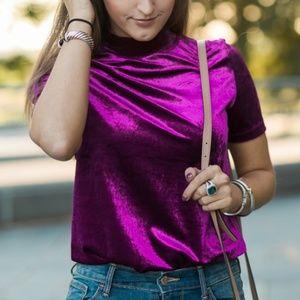 Zara Velvet Top